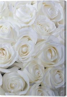 Valkoinen ruusut tausta Kangastuloste