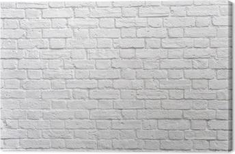 Valkoinen tiiliseinä Kangastuloste