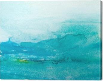 Värien lyöntiä vesiväri maalaus art Kangastuloste