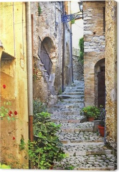Viehättäviä vanhoja välimerellisiä katuja Kangastuloste