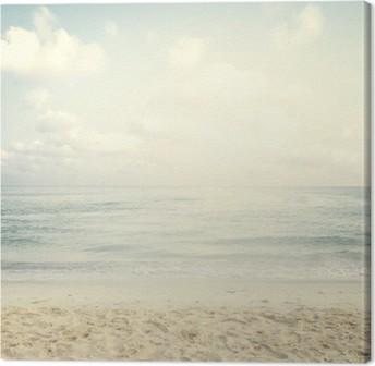 Vintage trooppinen ranta kesällä Kangastuloste