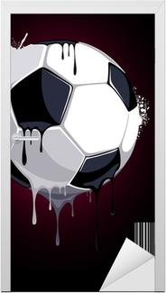 Futbol Topu Damlayan Boya Tuval Baskı Pixers Haydi Dünyanızı
