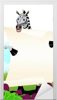 Kapı Çıkartması Kağıt ile zebra