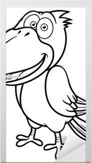 Karikatür Karga Vector Illustration Boyama Kitabı Dizüstü