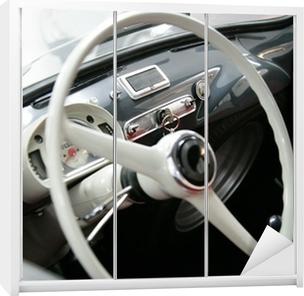 Kaststicker Fiat 600 multipla interieurs vintage stuurwiel