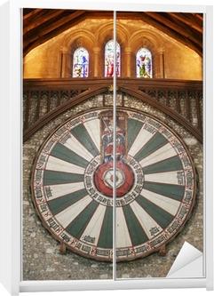 Ronde Tafel Koning Arthur.Koning Arthur Ronde Tafel Op Tempel Muur In Winchester Engeland U
