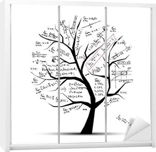 Kaststicker Math boom voor uw ontwerp