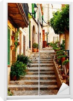 Kaststicker Straat in Valldemossa dorp in Mallorca
