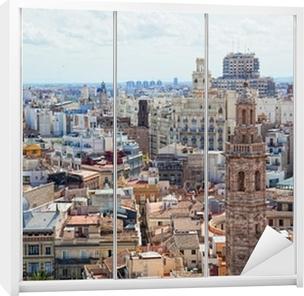 Kaststicker Weergave van het historische centrum van Valencia