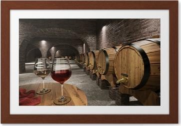 Antiikin viinikellari Kehystetty juliste