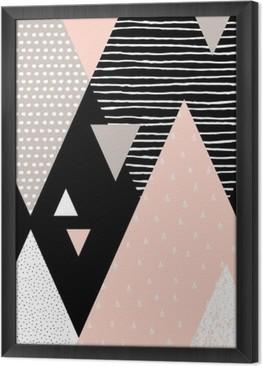 Abstrakti geometrinen maisema Kehystetty kangaskuva