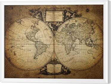 Maailman 1752 kartta Kehystetty kangaskuva