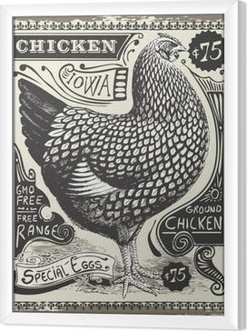 Vintage siipikarjan ja munien mainos sivu Kehystetty kangaskuva
