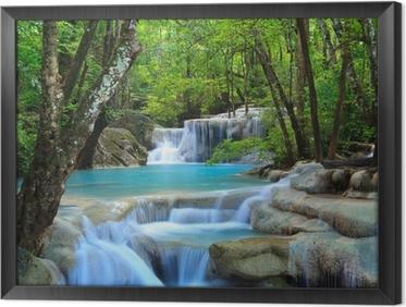 Erawanin vesiputous, Kanchanaburi, Thaimaa Kehystetty Kangas