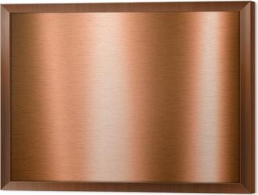Harjattu kupari metallilevy Kehystetty Kangas