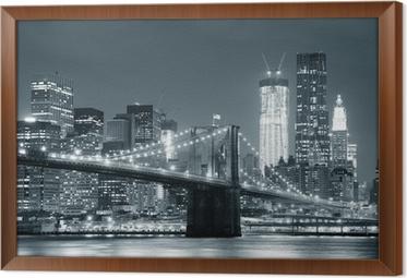 New york city brooklyn silta Kehystetty Kangas