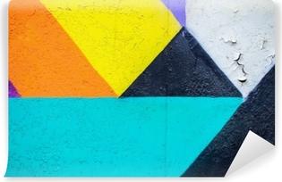 Kendinden Yapışkanlı Duvar Resmi Duvar duvarı. Kentsel sokak sanatı tasarım yakın çekim soyut detal. modern ikonik kentsel kültür. aerosol resimleri. arka planlar için yararlı olabilir.