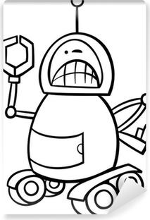 Karikatür Kawaii Robot Boyama Iki Parçalı Pixers Haydi