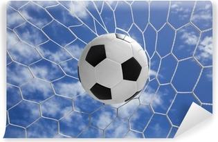 Kendinden Yapışkanlı Duvar Resmi Mavi gökyüzü ile gol net futbol topu