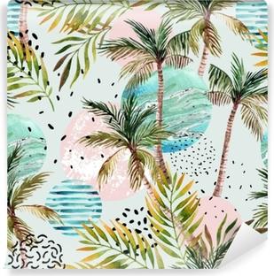 Kendinden Yapışkanlı Duvar Resmi Soyut yaz tropikal palmiye ağacı arka plan.