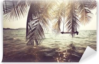 Kendinden Yapışkanlı Duvar Resmi Tropikal plaj