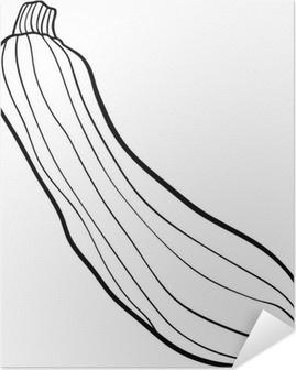 Boyama Kitabı Için Kabak Sebze Karikatür çıkartması Pixerstick