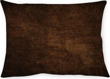 Kissenbezug Dunkler strukturierter hölzerner Hintergrund des alten Schmutzes, die Oberfläche der alten braunen hölzernen Beschaffenheit