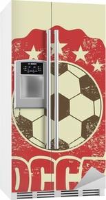 Fotballdesign Kjøleskapsklistremerke