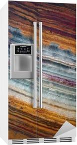 Texture av gemstone onyx Kjøleskapsklistremerke