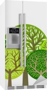 Trær gruppe Kjøleskapsklistremerke