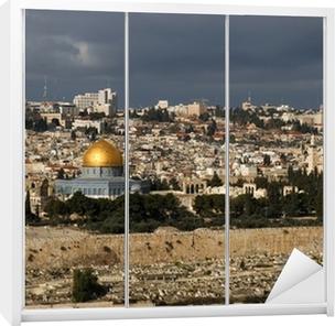 Klesskapklistremerke Den hellige byen Jerusalem fra Israel