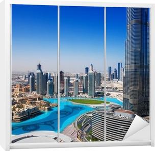 Klesskapklistremerke Downtown Dubai er et populært sted for shopping og sightseeing