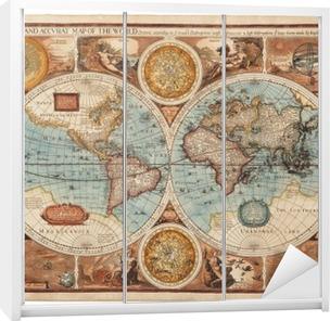 Klesskapklistremerke Gammelt kart (1626)