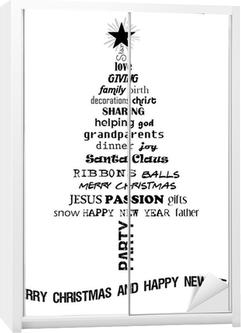 52bcb014 Plakat Juletre med relaterte ord • Pixers® - Vi lever for forandring