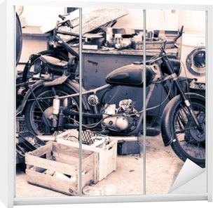Klesskapklistremerke Motorrad alt oldie nostalgisk motorsykkel