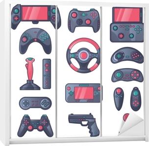 Klesskapklistremerke Spill gadget farge ikoner sett