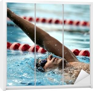 Klesskapklistremerke Svømming - sport