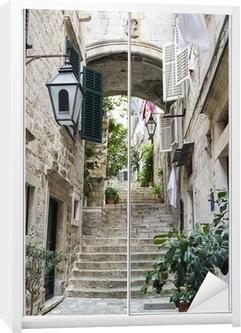 Klesskapklistremerke Trapper i gamlebyen i Dubrovnik