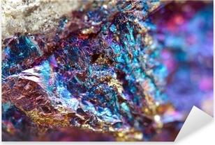 Abstrakt baggrund af et metalmineral. Pixerstick klistermærke
