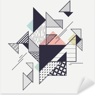 Abstrakt moderne geometrisk sammensætning Pixerstick klistermærke