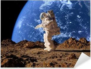 Astronauten Pixerstick klistermærke