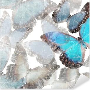 Baggrund med marmor sommerfugle Pixerstick klistermærke