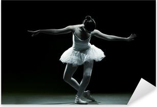 Balletdanser-action Pixerstick klistermærke