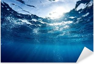 Blå hav Pixerstick klistermærke