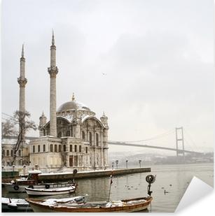 Bosporus-broen og Ortakoy-moskeen i Istanbul Tyrkiet Pixerstick klistermærke