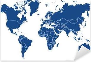 Carte du monde 02072015 Pixerstick klistermærke