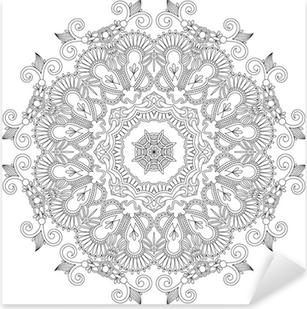 Cirkel ornament, dekorative runde blonder Pixerstick klistermærke