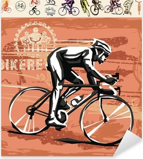 Cykling Pixerstick klistermærke