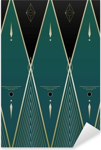 Diamonds Art Deco Baggrund Pixerstick klistermærke