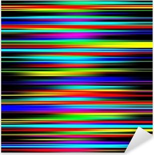 Flerfarvet levende abstrakt gradueret striber mønster. Pixerstick klistermærke